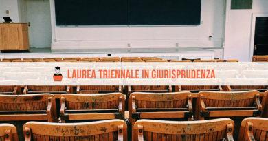 Laurea Triennale Giurisprudenza