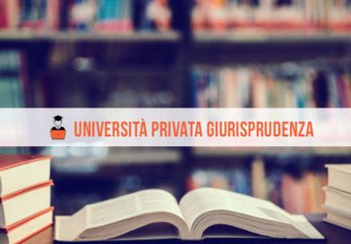 Università Privata con Giurisprudenza: tutte le informazioni