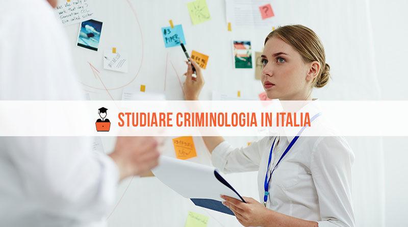 Studiare criminologia in Italia